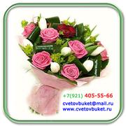 Магазин цветов Cvetov-Buket доставка цветов и букетов