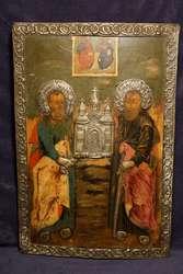Икона свв. Первоверховных апостолов Петра и Павла. Россия,  XVIII век.