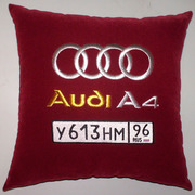 Стильные автомобильные подушки с именной вышивкой