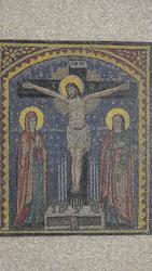 Аналойная икона Голгофа - Распятие Господа Иисуса Христа. Россия,  XIX