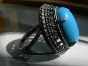 чудесное кольцо с бирюзой