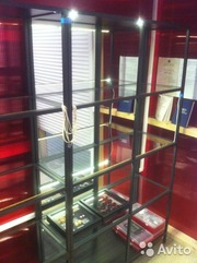 Шкаф-витрина (стеллаж витшё + зеркало) из Икеи