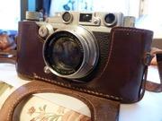 Антикварный пленочный фотоаппарат Leica IIIb