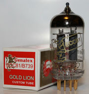 Радиолампа ECC81 Genalex Gold Lion
