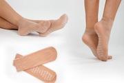 Носочки с турмалином из натурального шелка