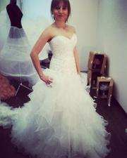 Свадебное платье со шлейфом 70 см