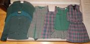 Продам пакетом зеленую школьную форму для девочки