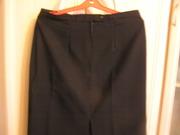 Черная габардиновая юбка
