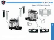 Решетка капот scania 3 серия стримлайн