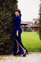 Шикарное платье бархат 48 размер