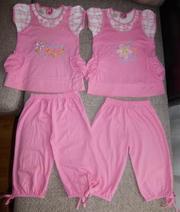 Продам летние костюмы для девочек Damy-M (Россия). Р-ры 104,  110 см
