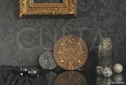 скульптура. календарь майя. интерьерный аксессуар. золото серебро.