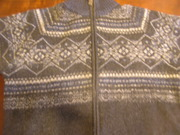 кардиган шерстяной  с геометрическим ррисунком