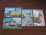 4 почтовых открытки с видами Москвы времен СССР