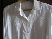 Блузка из натурального шелка с длинным рукавом