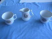 Набор для чая 2 чашечки и молочник