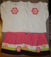 Продам комплекты (кофта + юбка-шорты) Gymboree,  Р. 6 лет