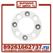 Колпаки колёсные 17.5 19.5 ободок на 8 шпилек пластик Белые в Москве