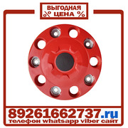 Колпаки колёсные 22.5 ступичные пластик красные в Москве