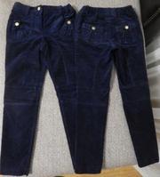 Продам брюки для девочки из вельвета,  цвет синий