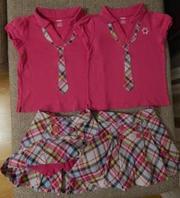 Продам комплекты (кофта + юбка-шорты) Gymboree,  Р. 6 лет.