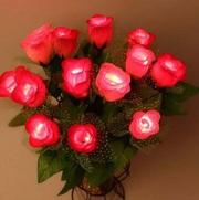 Розы искусственные,  светящиеся