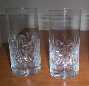2 новых  хрустальных стакана Снежинка