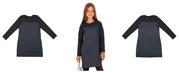 Продам платья 2 шт. Цвет: темно-синий,  принт гусиная лапка мелкая